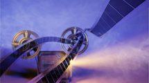 پروژه افترافکت نمایش لوگو با پروژکتور فیلم Cinema Film Logo