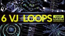 مجموعه ویدیوی موشن گرافیک لوپ ماشین های سایبری