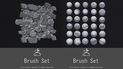 مجموعه براش سفارشی برای زیبراش DC Zbrush Custom Brushes