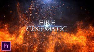 پروژه پریمیر نمایش عناوین با آتش Fire Cinematic Titles
