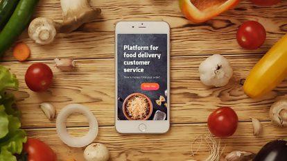 پروژه افترافکت نمایش لوگو اپلیکیشن غذا Food App Logo Reveal