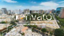 پروژه افترافکت نمایش لوگو با بازتاب شیشه Glass Reflection Logo Reveal
