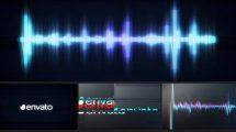 پروژه افترافکت نمایش لوگو با ویژوالایزر موزیک Glitch Logo Music Visualizer