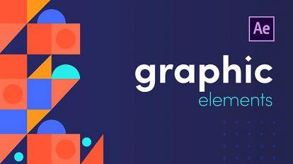 پروژه افترافکت اجزای موشن گرافیک Graphic Elements