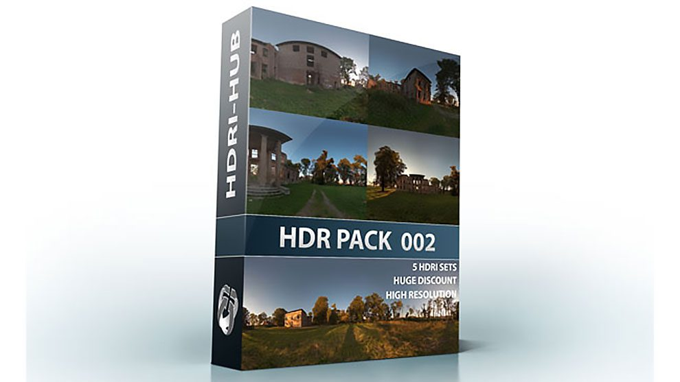 مجموعه تصاویر محیط مخروبه HDRI Hub Pack 002 Ruin