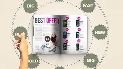 پروژه افترافکت تیزر تبلیغاتی مجله In Magazine