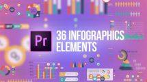 پروژه پریمیر اجزای اینفوگرافیک Infographics Elements