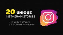 پروژه افترافکت مجموعه استوری اینستاگرام ساده Instagram Stories
