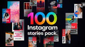 پروژه افترافکت مجموعه استوری اینستاگرام Instagram Stories Pack