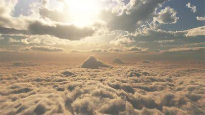ویدیوی موشن گرافیک تایم لپس پرواز در میان ابرها Into The Clouds 01