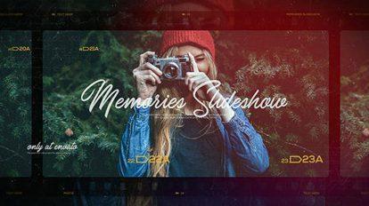 پروژه افترافکت اسلایدشو نمایش خاطرات Memories Slideshow