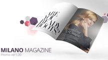 پروژه افترافکت تیزر تبلیغاتی مجله Milano Magazine Promo