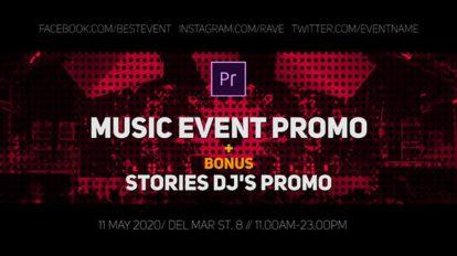 پروژه پریمیر تیزر تبلیغاتی کنسرت موسیقی Music Event Promo