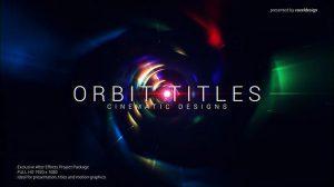 پروژه افترافکت نمایش عناوین تیتراژ سینمایی Orbit Cinematic Titles
