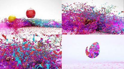 پروژه افترافکت نمایش لوگو با پاشیدن رنگ Paint Splash Logo Reveal