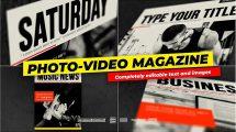 پروژه افترافکت تیزر تبلیغاتی مجله Photo and Video Magazine Cover