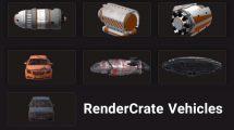 مجموعه مدل سه بعدی وسیله نقلیه RenderCrate Vehicles