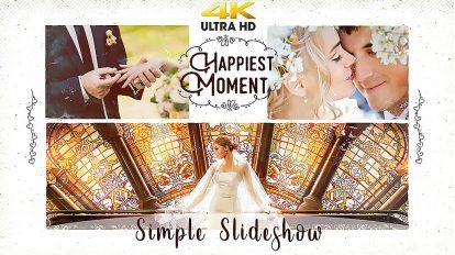 پروژه افترافکت اسلایدشو ساده برای عروسی Simple Slideshow