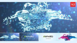 پروژه افترافکت نمایش لوگو با پاشیدن آب Splash Logo Reveal