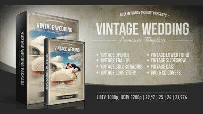 پروژه افترافکت اجزای ساخت تیزر عروسی Vintage Wedding Package