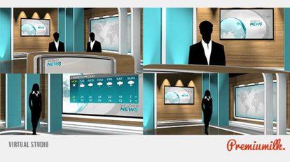 پروژه افترافکت استودیوی خبری Virtual Studio