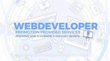 پروژه افترافکت تیزر تبلیغاتی طراح وب Web Developer Promo