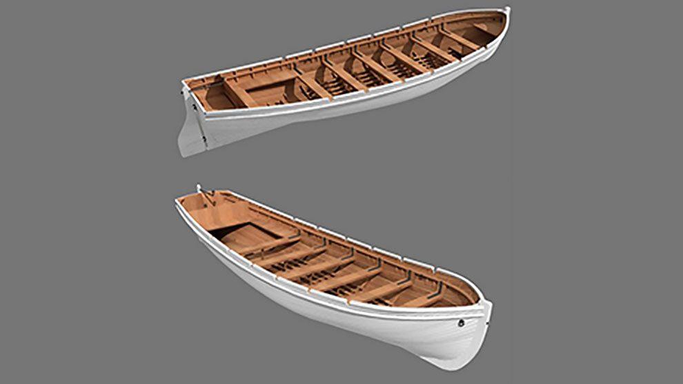 مدل سه بعدی قایق چوبی Wooden Boat