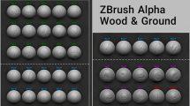 مجموعه براش چوب و سطح زمین ZBrush Alpha Wood & Ground