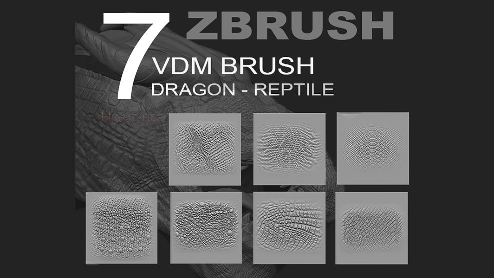 zbrush-reptile-dragon-vdm-pack