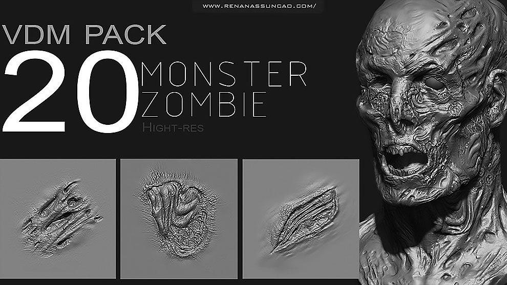 مجموعه براش زامبی برای زیبراش Zbrush Zombie Monster VDM