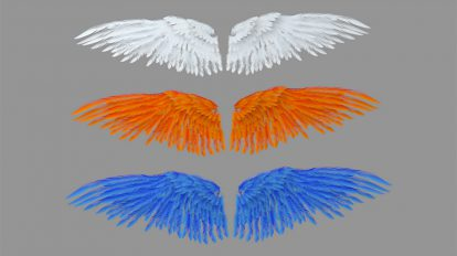 مدل سه بعدی بال فرشته Angel Wings
