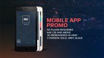 پروژه افترافکت تیزر تبلیغاتی برای اپلیکیشن App Promo Kit