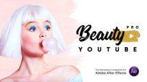 پروژه افترافکت اجزای ویدیویی کانال یوتیوب Beauty Pro Youtube Pack