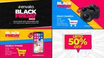 پروژه افترافکت تیزر تبلیغاتی فروش ویژه Black Friday Sale Promo