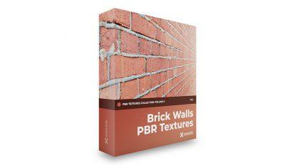 مجموعه تکسچر واقعگرایانه دیوار آجری CGAxis PBR Textures Volume 9 Brick Wall
