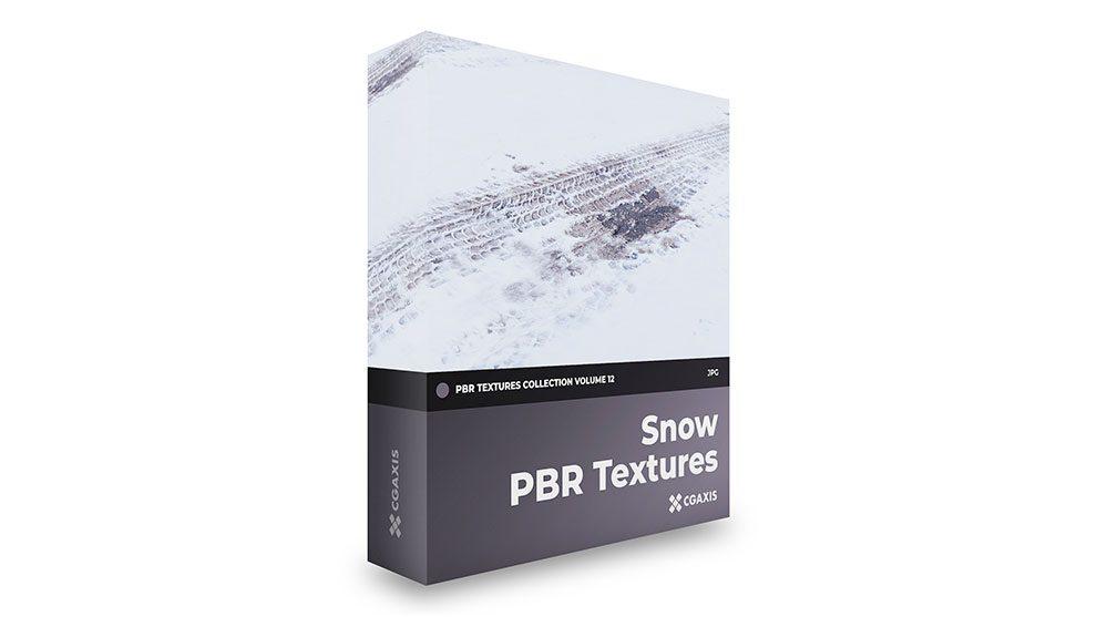 مجموعه تکسچر واقعگرایانه برف CGAxis PBR Textures Volume 12 Snow