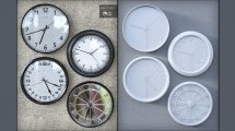 مجموعه مدل سه بعدی ساعت دیواری مدرن Modern Wall Clocks