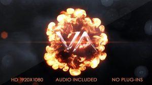 پروژه افترافکت نمایش لوگو با انفجار Explosion Logo