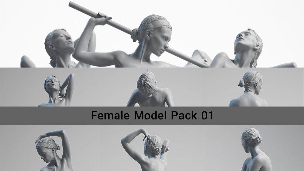 مجموعه مدل سه بعدی زن Female Model Pack 01