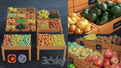 مجموعه مدل سه بعدی میوه Fruits 3D Models