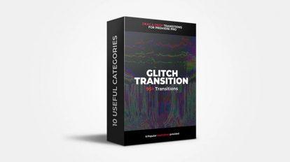 پروژه پریمیر مجموعه ترانزیشن گلیچ Glitch Transitions