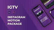 پروژه افترافکت مجموعه موشن برای اینستاگرام IGTV Instagram Motion Package