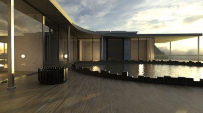 صحنه آماده سه بعدی خانه مدرن Modern Architecture House