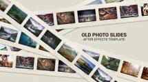 پروژه افترافکت اسلایدهای عکس Old Photo Slides