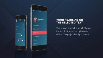 پروژه افترافکت پرزنتیشن اپلیکیشن موبایل Phone 6 App Presentation