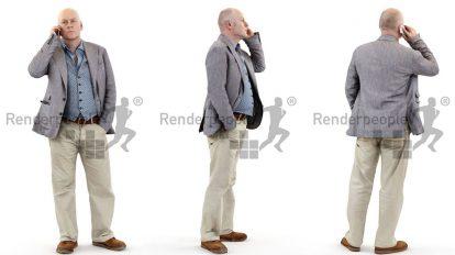 مدل سه بعدی مرد با گوشی Steve Posed 2