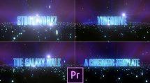 پروژه پریمیر نمایش عناوین سینمایی The Galaxy Walk Cinematic
