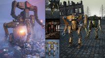 مدل سه بعدی لباس ربات Titan Mecha for Genesis 8