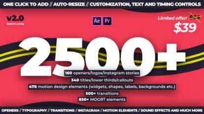 پروژه افترافکت مجموعه موشن گرافیک Trendy Motion Graphics Package