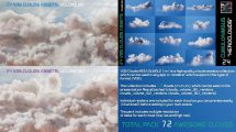 مجموعه ابرهای حجمی VDB Clouds Mega Bundle 3 in 1